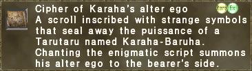 Cipher: Karaha