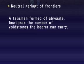 Neutral periapt of frontiers