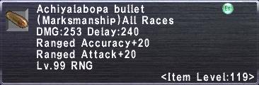 Achiyalabopa Bullet
