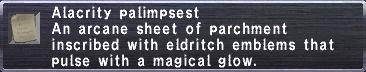 Alacrity Palimpsest