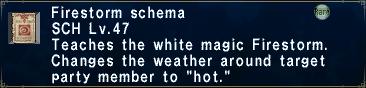Firestorm Schema