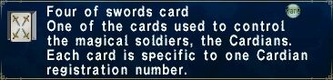 Four of Swords Card