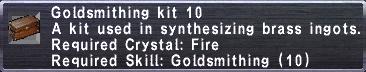 Goldsmithing Kit 10
