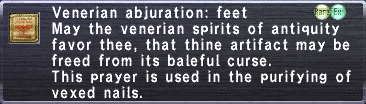 Venerian Abjuration: Feet