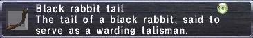 Black Rabbit Tail
