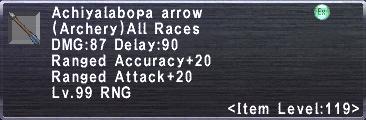 Achiyalabopa Arrow