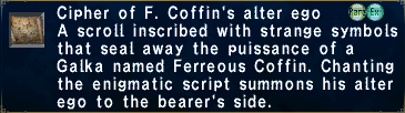 Cipher: Ferreous Coffin