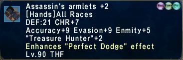 Assassin's Armlets (Augmented) +2
