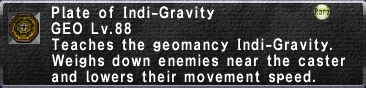 Plate of Indi-Gravity