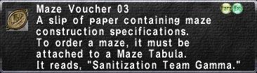 Maze Voucher 03