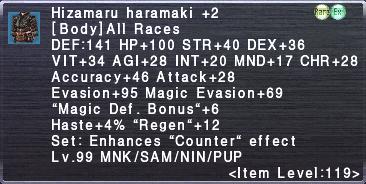 Hizamaru Haramaki +2