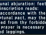 Neptunal Abjuration: Feet