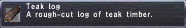 Teak Log