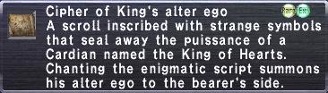 Cipher: King