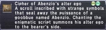 Cipher: Abenzio