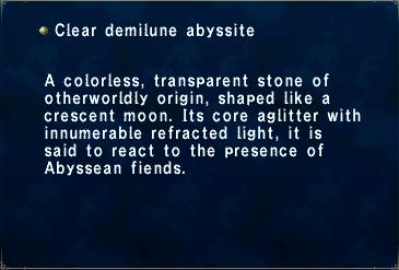 Clear Demilune Abyssite