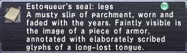 Estoqueur's Seal: Legs