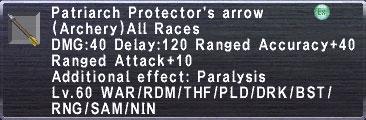 Patriarch Protector's Arrow
