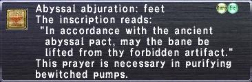 Abyssal Abjuration: Feet