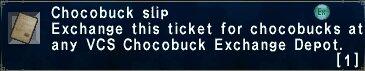 Chocobuck Slip