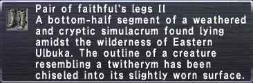 Faithful's Legs II