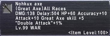 Nohkux Axe