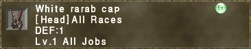 White Rarab Cap