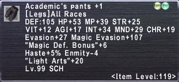 Academic's Pants +1