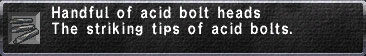 Acid Bolt Heads