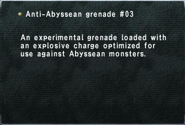 Anti-Abyssean grenade 03