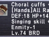 Choral Cuffs +1