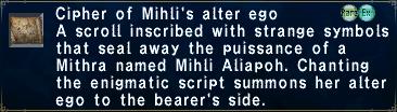 Cipher: Mihli