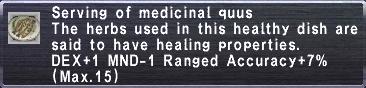 Medicinal Quus