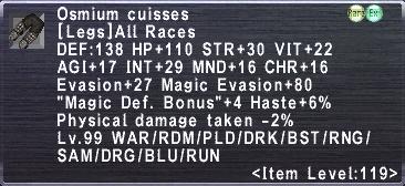Osmium Cuisses