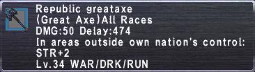Republic Greataxe