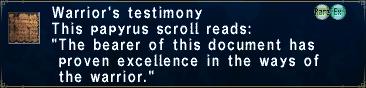 Warrior's Testimony