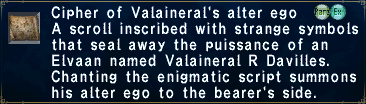 Cipher: Valaineral
