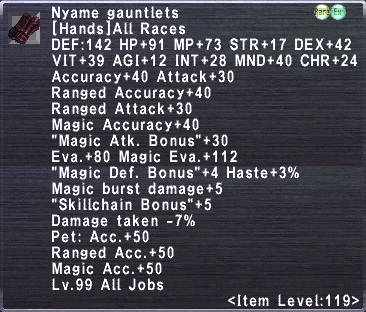Nyame Gauntlets