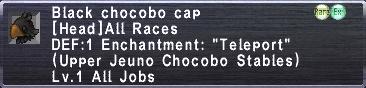 Black Chocobo Cap
