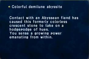Colorful Demilune Abyssite