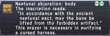 Neptunal Abjuration: Body