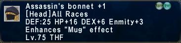 Assassin's Bonnet +1