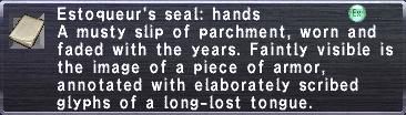 Estoqueur's Seal: Hands