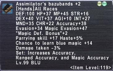 Assimilator's Bazubands +2