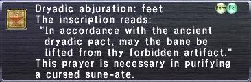 Dryadic Abjuration: Feet
