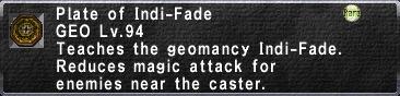 Plate of Indi-Fade
