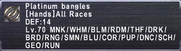 Platinum Bangles