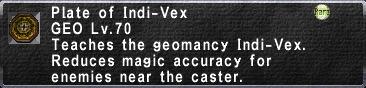Plate of Indi-Vex