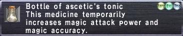 Ascetic's Tonic