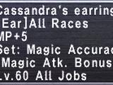 Cassandra's Earring